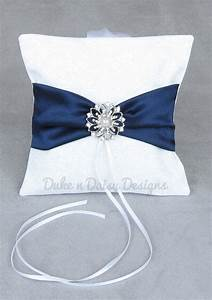 Dog ring pillow navy satin dog ring bearer by for Dog wedding ring bearer pillow
