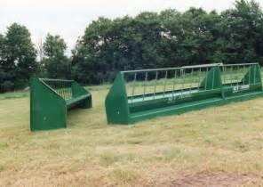 Cattle Fence Line Bunk Feeder