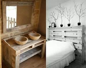Que faire avec des palettes plus de 38 creations originales for Salle de bain design avec décoration de table pour anniversaire 20 ans