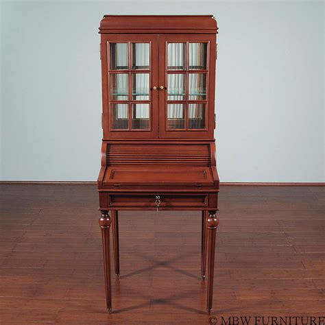 vintage mahogany roll top empire secretary hutch desk ebay