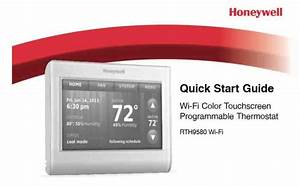 Honeywell Rth9580wf Thermostat Manual