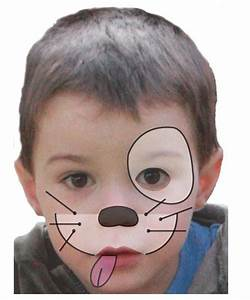 Maquillage Halloween Enfant Facile : maquillage enfant chien tuto maquillage enfant loisirs ~ Nature-et-papiers.com Idées de Décoration