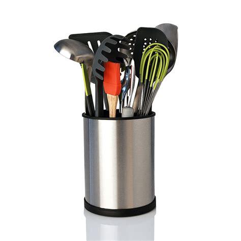 kitchen utensil carousel organizer stainless steel rotating utensil holder kapoosh ary 6367