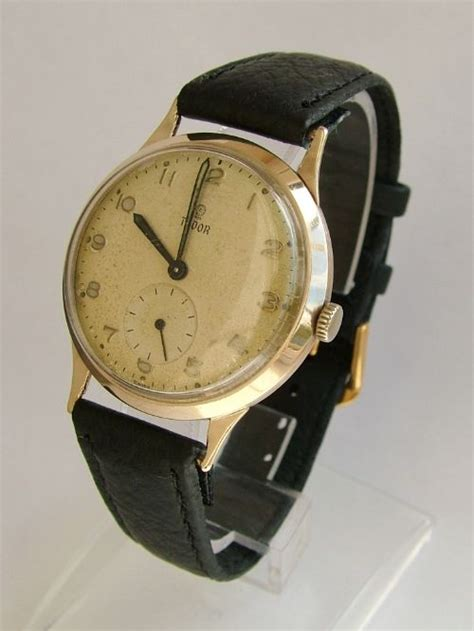 Gents 9ct Gold 1960 Tudor Wrist Watch, By Rolex | 301251 ...