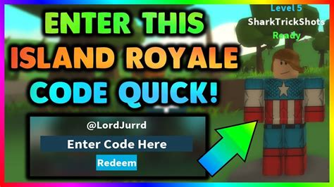 island royale code redeem code roblox youtube
