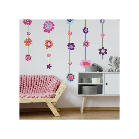 Wall Flowers Decor - flower stripe wall decals big flowers stickers new