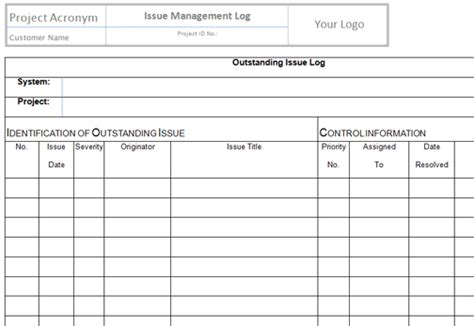 change log template best photos of project log template excel project