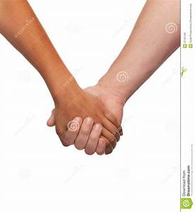 Woman And Man Holding Hands Stock Image - Image of ...