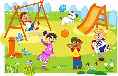 Clipart Recess Outside Clip Transparent Playground Busy