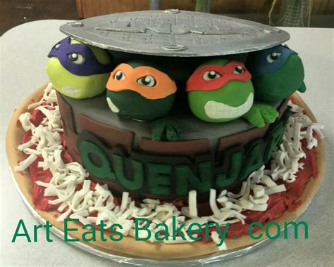 teenage mutant ninja turtles custom fondant kids birthday