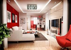Deco Sejour Moderne : une d co de salon avec du temp rament chaud en rouge ~ Teatrodelosmanantiales.com Idées de Décoration