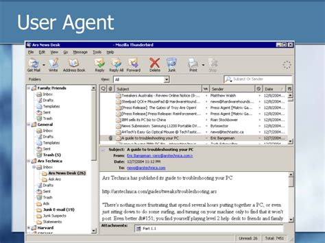 mail lecture agent representation transfer electronic