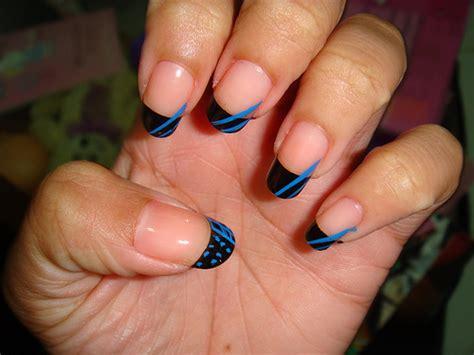 tip nail design nail designs blue tips nailspedia
