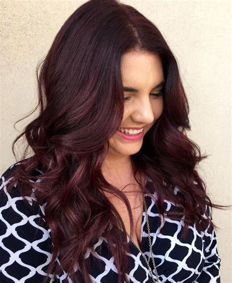 striking dark red hair color ideas bright  elegant