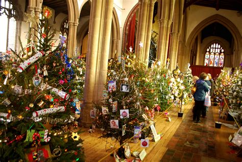 st peters church christmas tree festival  sudbury