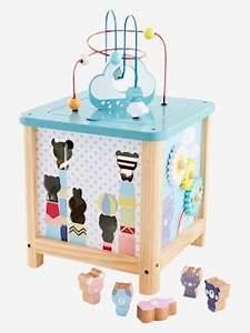 Cube En Bois Bébé : jouet enfant jouets enfants fille gar on vertbaudet ~ Melissatoandfro.com Idées de Décoration