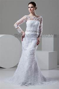 She Made Me Size Chart Sheath Column Lace Long Sleeve Beaded Wedding Dresses