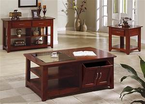 Rich cherry contemporary ocassional coffee table w glass for Modern cherry coffee table