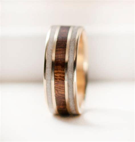 mens wedding band mens gold wedding ring  wood