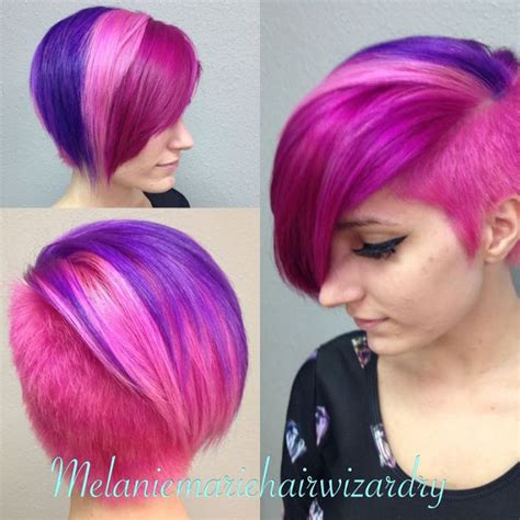colored shorts multi colored hairstyles
