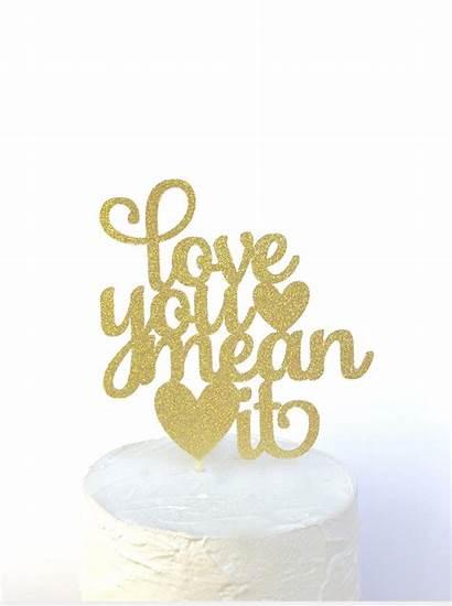 Cake Topper Mean Bridal Shower Valentines Engagement