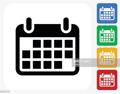 Calendar Icon Flat Graphic Design Vector Art