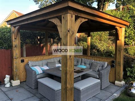 tudor bespoke wooden garden gazebo kit uk