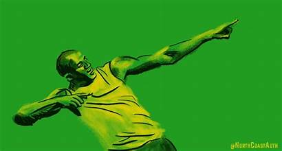 Bolt Usain Giphy Track Jamaica Gifs Sports