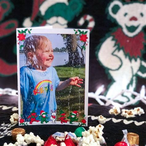 grateful dead jingle bears poinsettia customized photo
