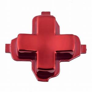 Chrome Red Replacement Dpad D