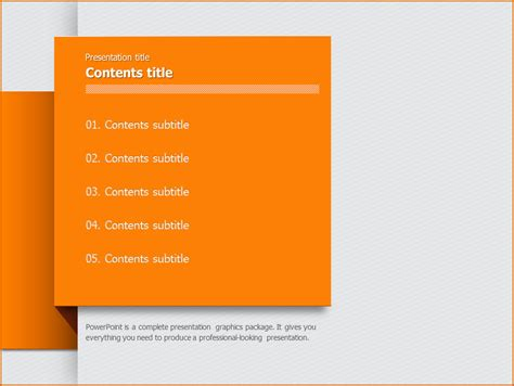 powerpoint table of contents template 7 table of contents template authorizationletters org