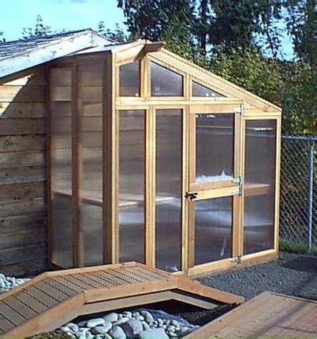 Design includes 3 removable side. Build a Small Greenhouse for the Side of Your Shed - Here ...