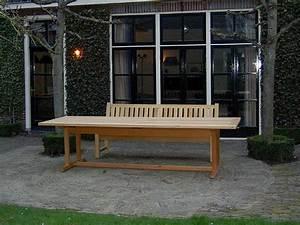 Tischdecke 3 Meter Lang : lange tuintafel van hout 300x100cm gemaakt van fsc guariuba hardhout ~ Frokenaadalensverden.com Haus und Dekorationen