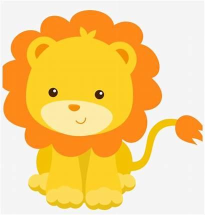 Lion Cartoon Clipart Shower Borders Vectors Transparent