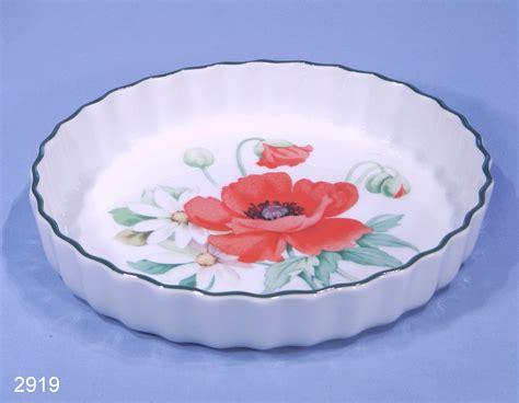 royal worcester poppies porcelain flan dish sold