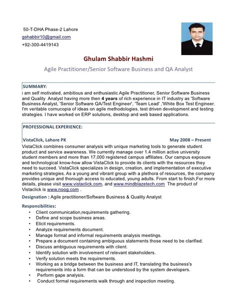 how to write a software tester resume