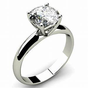 engagement 150ctw solitaire 14k hallmark white gold ring With wedding ring solitaire