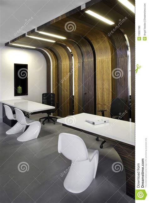 beautiful  modern office interior design stock photo