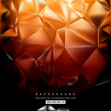 Abstract Black Triangle by Abstract Black Orange Polygon Triangle Background