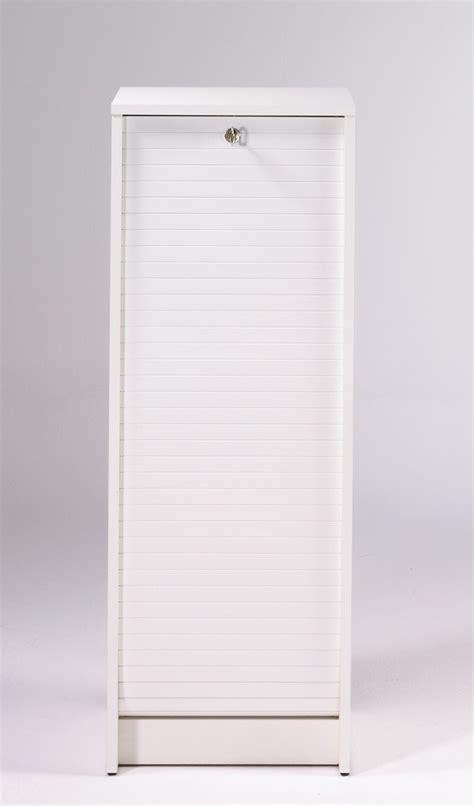 classeur de bureau à rideau classeur à rideau design blanc booster meuble de