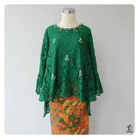 simple long sleeve lace top kebaya modern indonesia