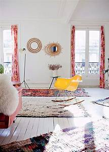 sur un air de kinfolk zoom sur la deco boheme marie claire With tapis kilim avec petit canapé de jardin