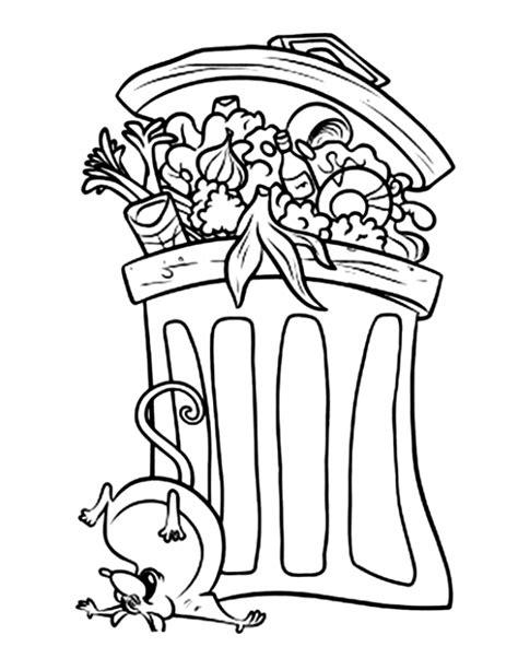 idee cuisine en u la poubelle de ratatouille est un coloriage de ratatouille
