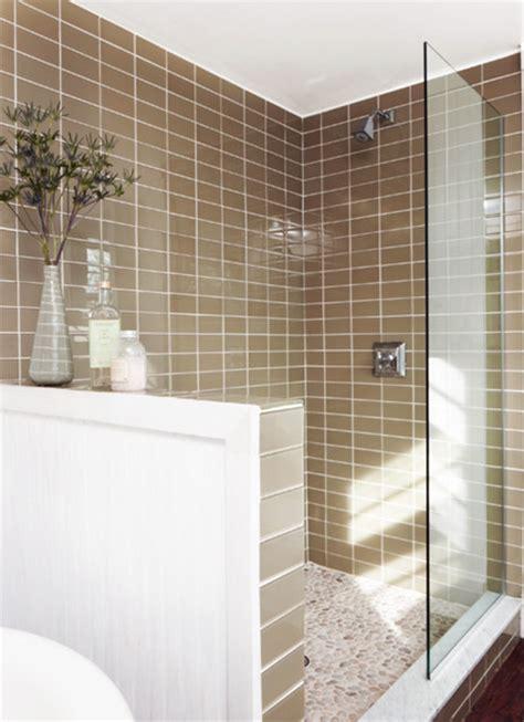 glass subway tile bathroom ideas lush 3x6 glass subway tile installations traditional
