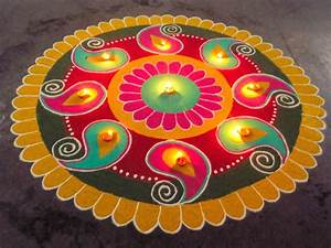 Top Diwali Diya Rangoli Wallpapers