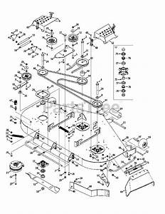 Cub Cadet Parts On The Mower Deck 60