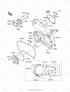 Kawasaki Motorcycle 2006 Oem Parts Diagram For Right Engine Cover S