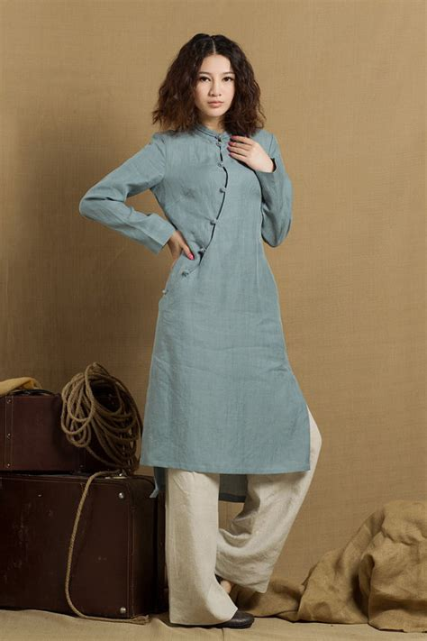 dressy blouses for wedding linen tunic dress in grey blue linen tunic blouse