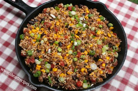 ground beef recipies tex mex beef skillet i heart recipes