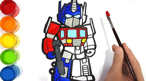 learn colors  transformers optimus prime drawing